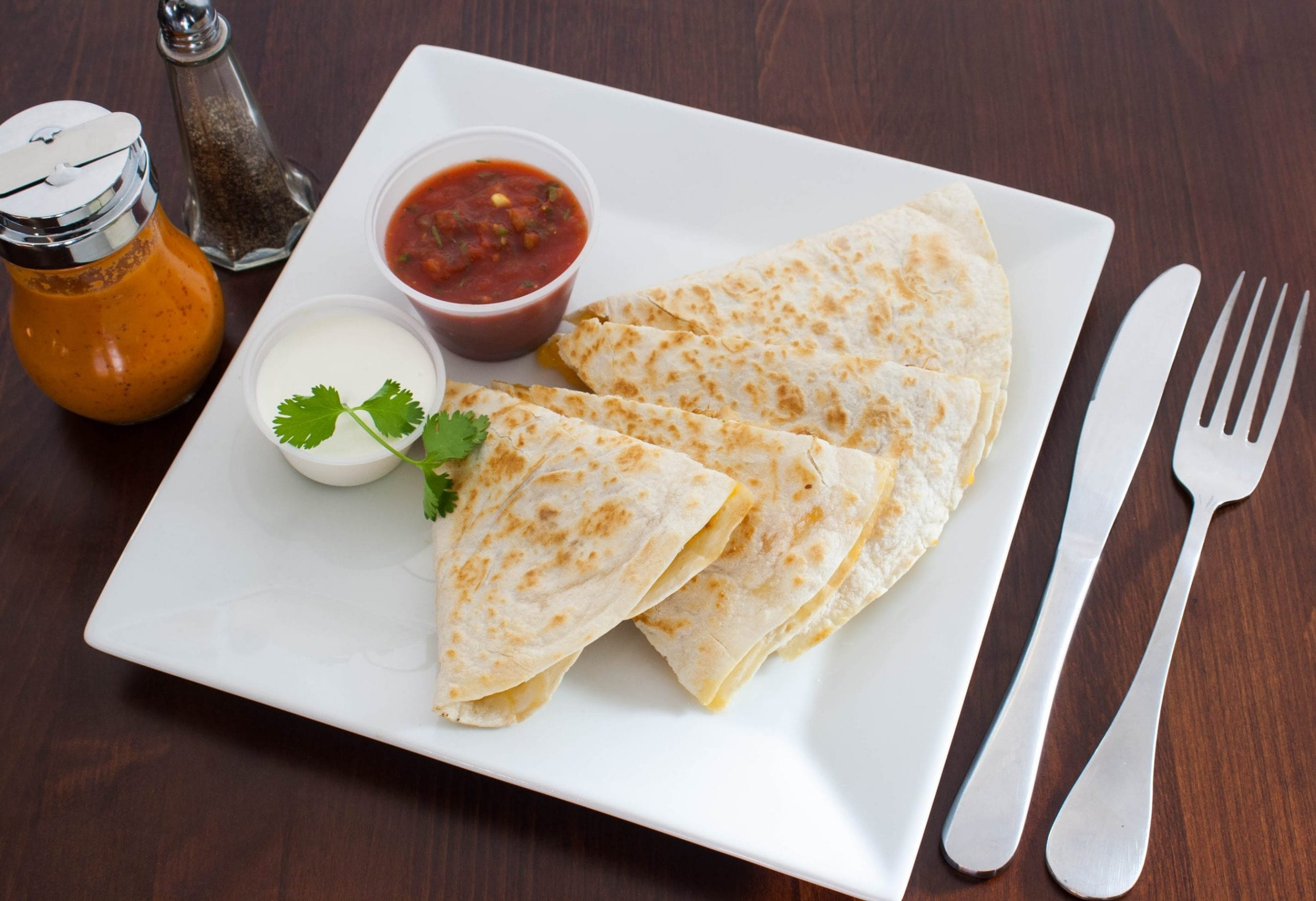 Quesadilla Plate of Food