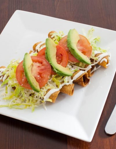 Flautas Plate of Food