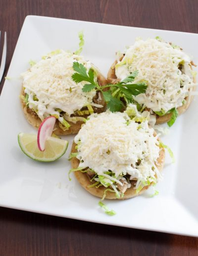 Sopes Plate of Food